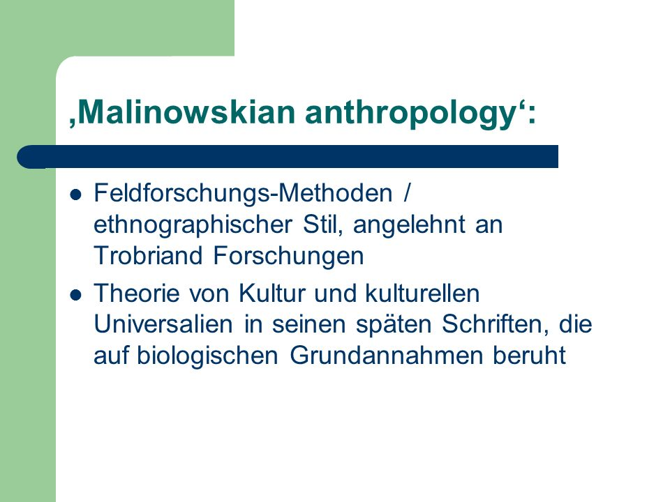 'Malinowskian anthropology':