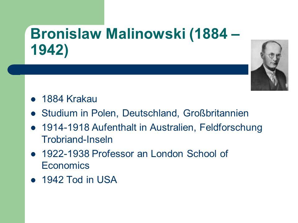 Bronislaw Malinowski (1884 – 1942)