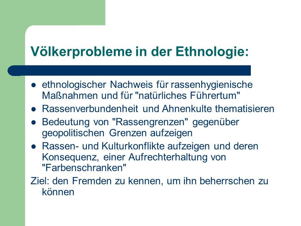 Völkerprobleme in der Ethnologie:
