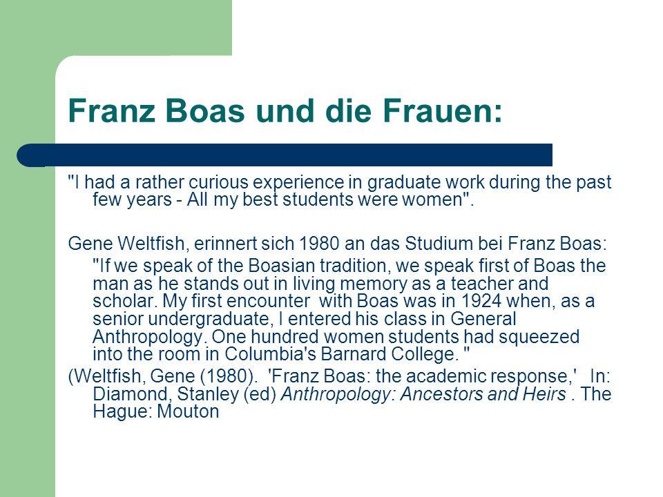 Franz Boas und die Frauen: