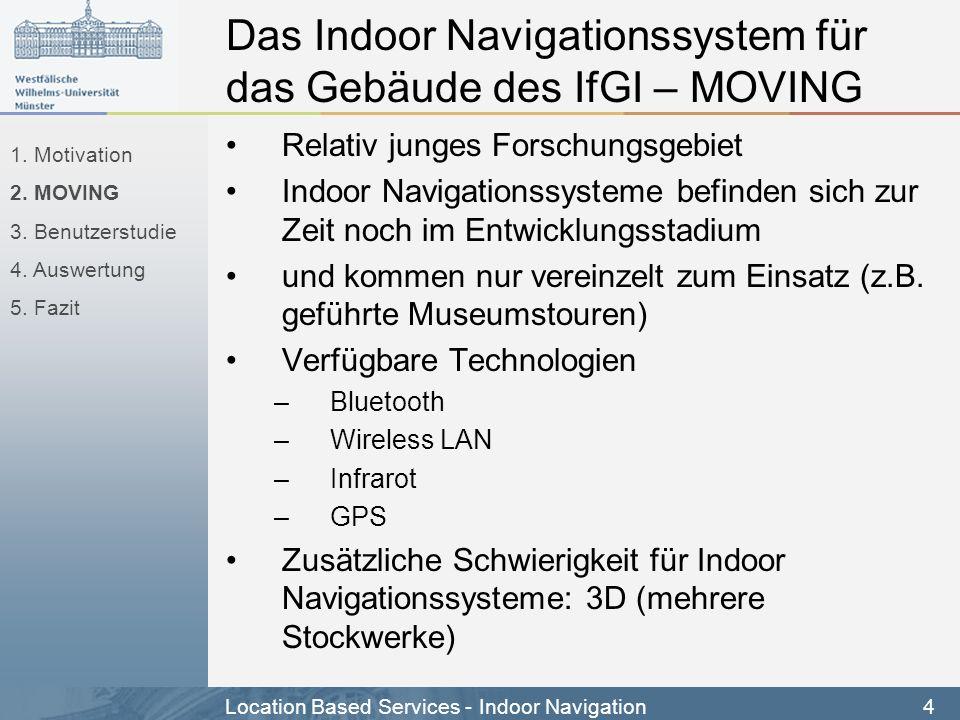 Das Indoor Navigationssystem für das Gebäude des IfGI – MOVING
