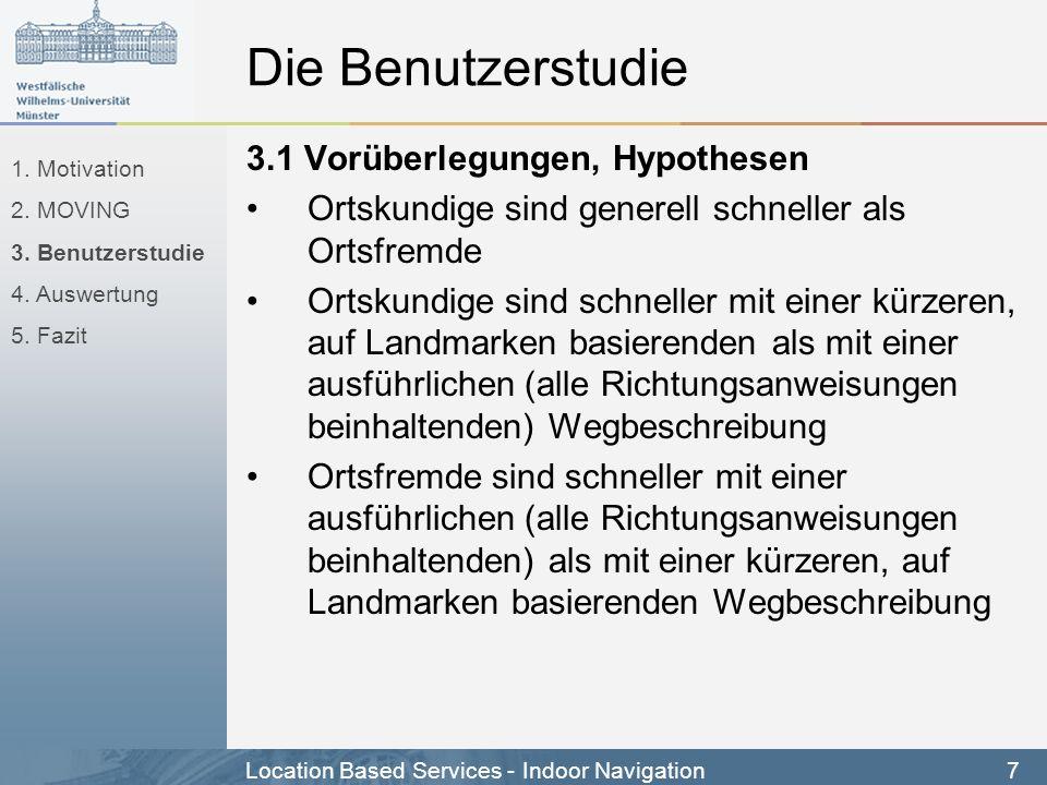 Die Benutzerstudie 3.1 Vorüberlegungen, Hypothesen