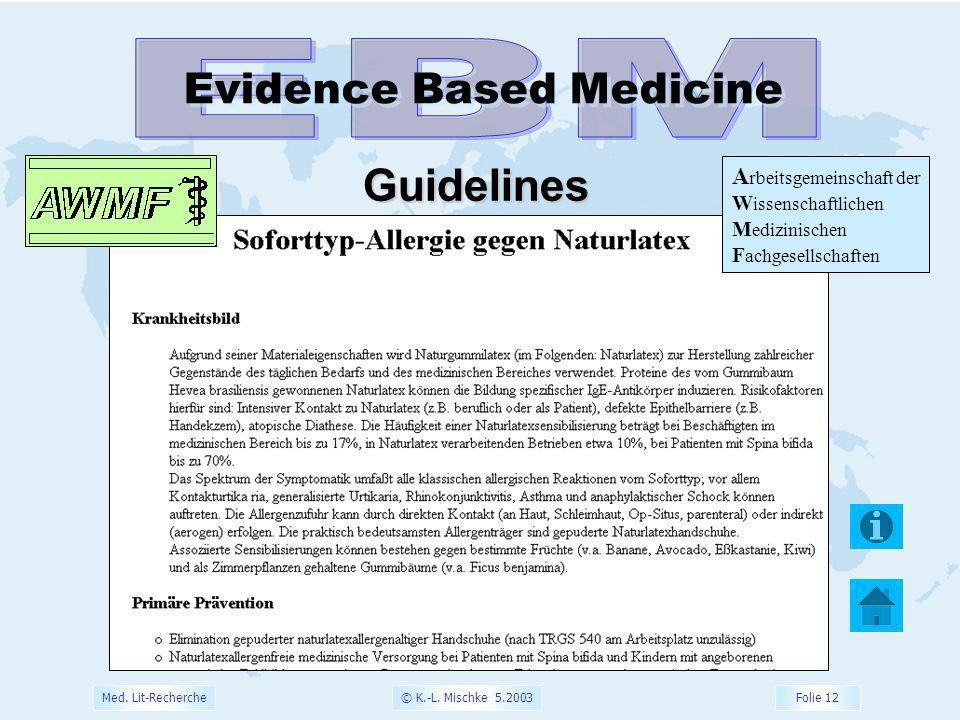 EBM Guidelines Evidence Based Medicine