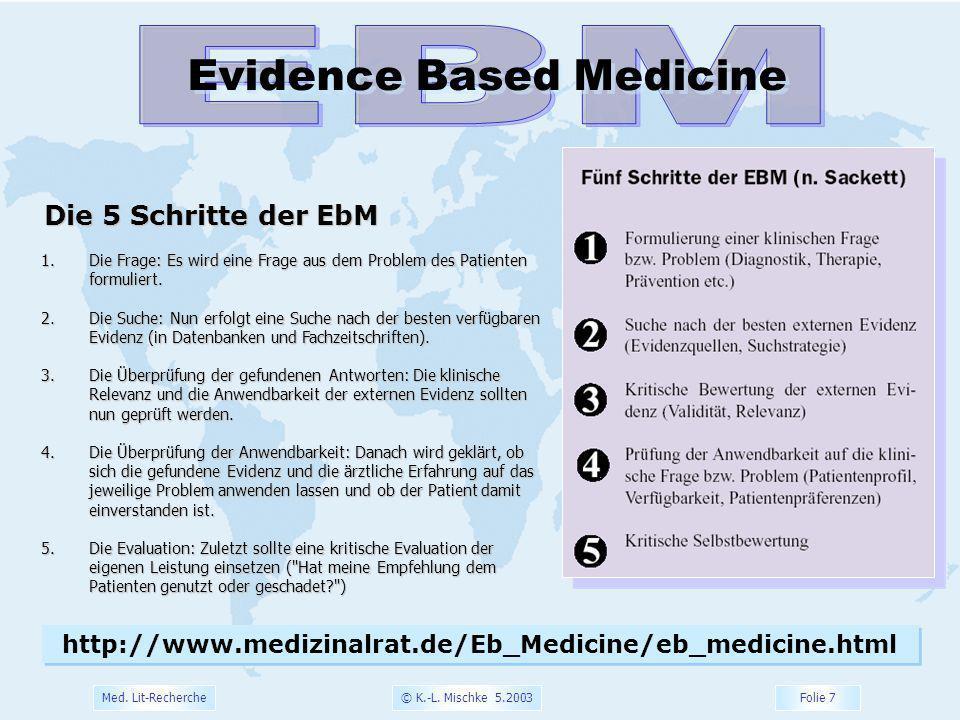 EBM Evidence Based Medicine Die 5 Schritte der EbM
