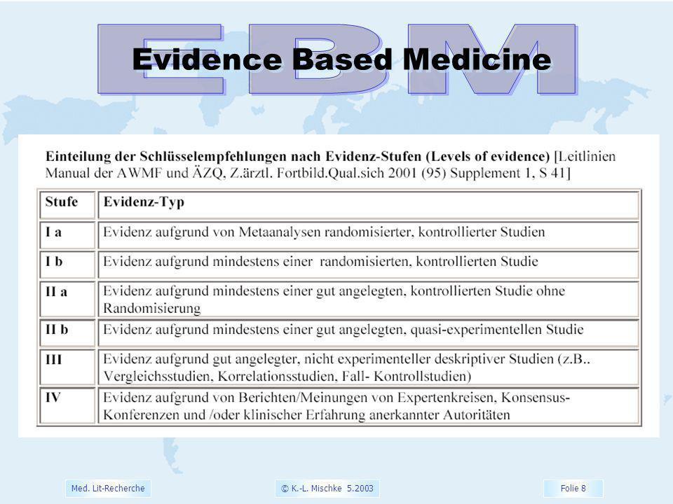 EBM Evidence Based Medicine