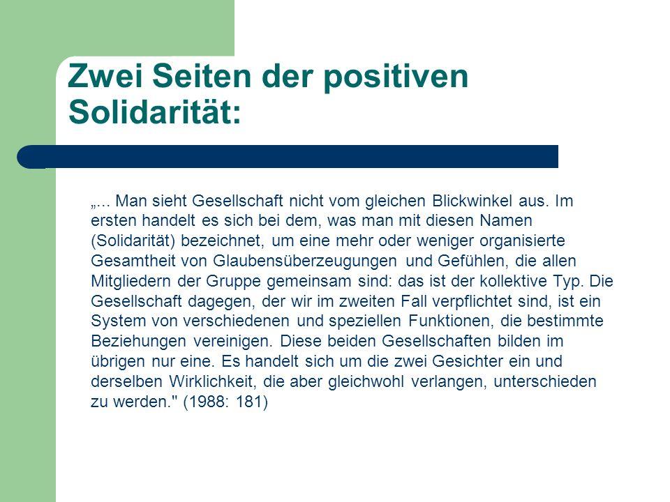 Zwei Seiten der positiven Solidarität: