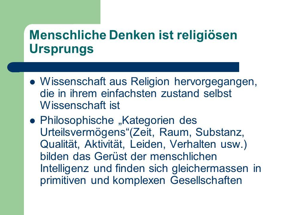 Menschliche Denken ist religiösen Ursprungs