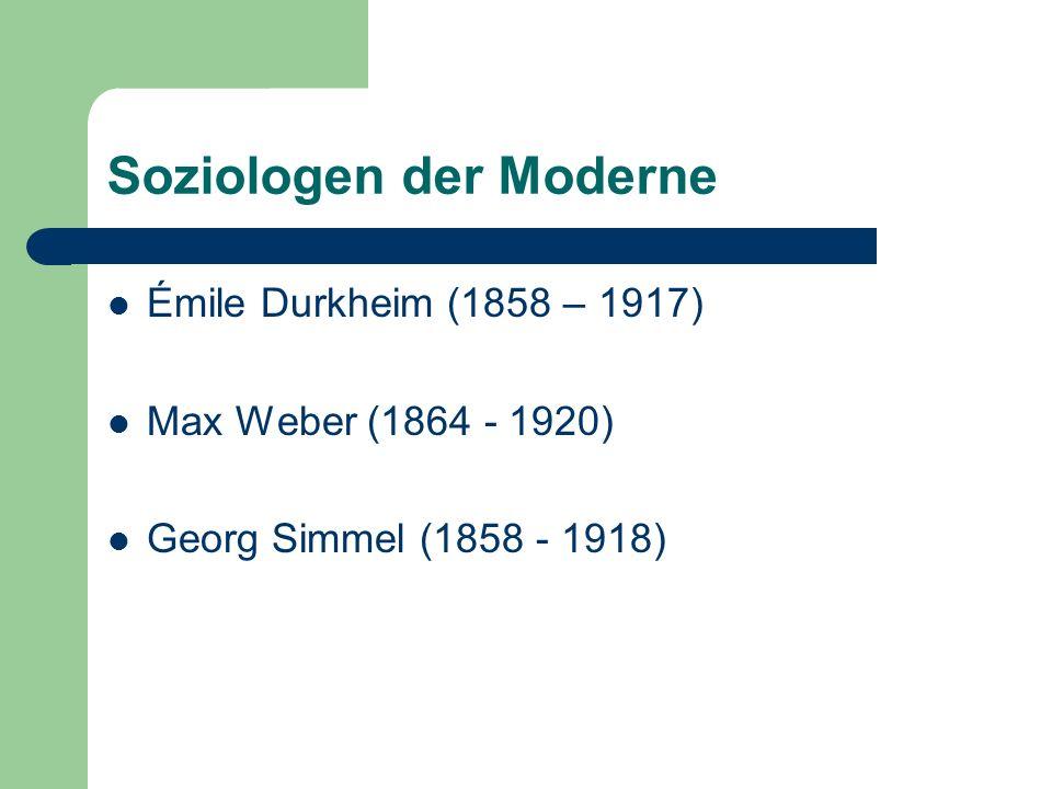 Soziologen der Moderne