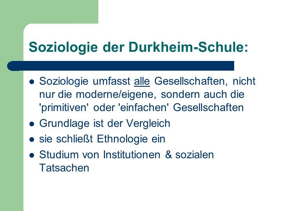 Soziologie der Durkheim-Schule: