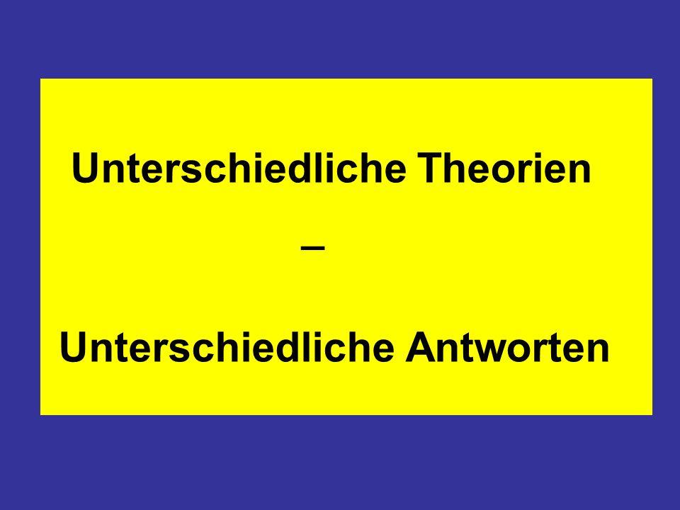 Unterschiedliche Theorien