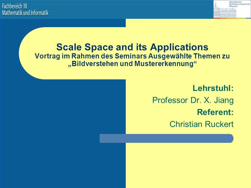 Lehrstuhl: Professor Dr. X. Jiang Referent: Christian Ruckert