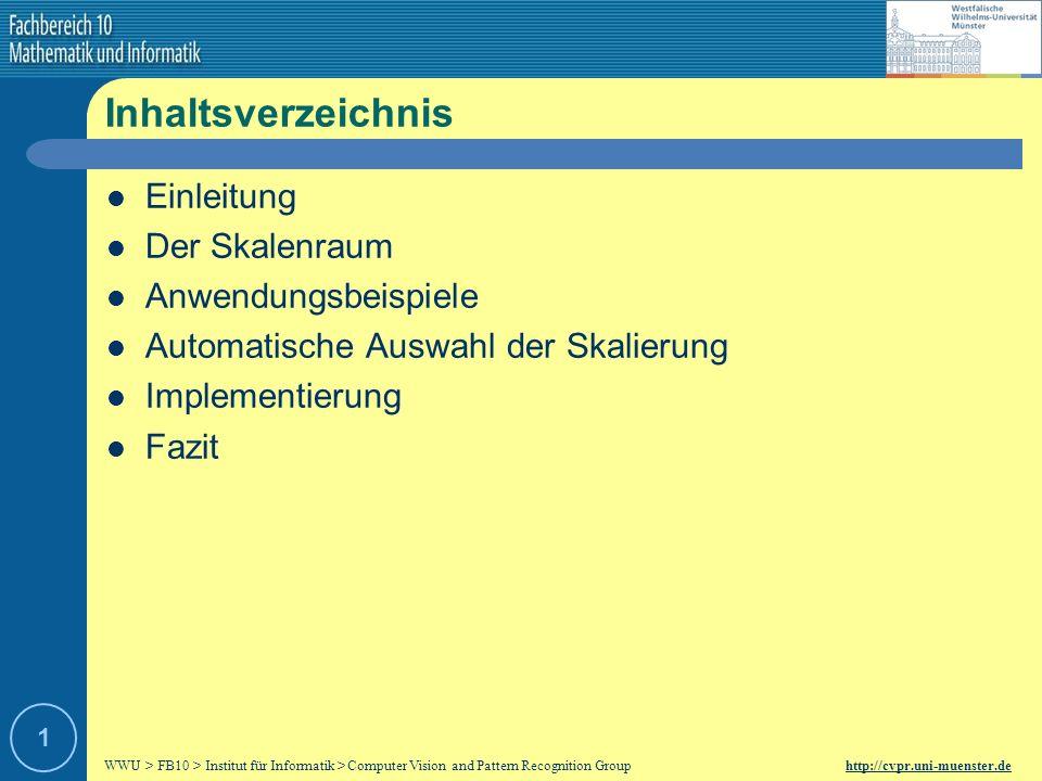Inhaltsverzeichnis Einleitung Der Skalenraum Anwendungsbeispiele