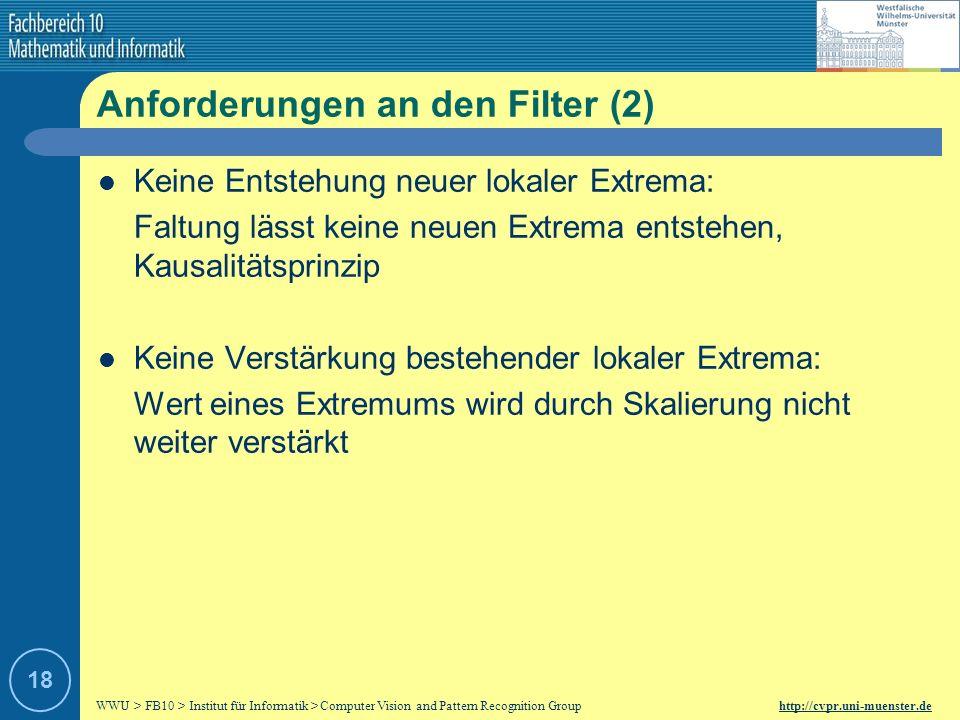 Anforderungen an den Filter (2)
