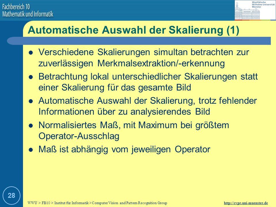 Automatische Auswahl der Skalierung (1)
