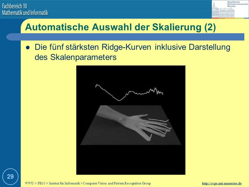 Automatische Auswahl der Skalierung (2)