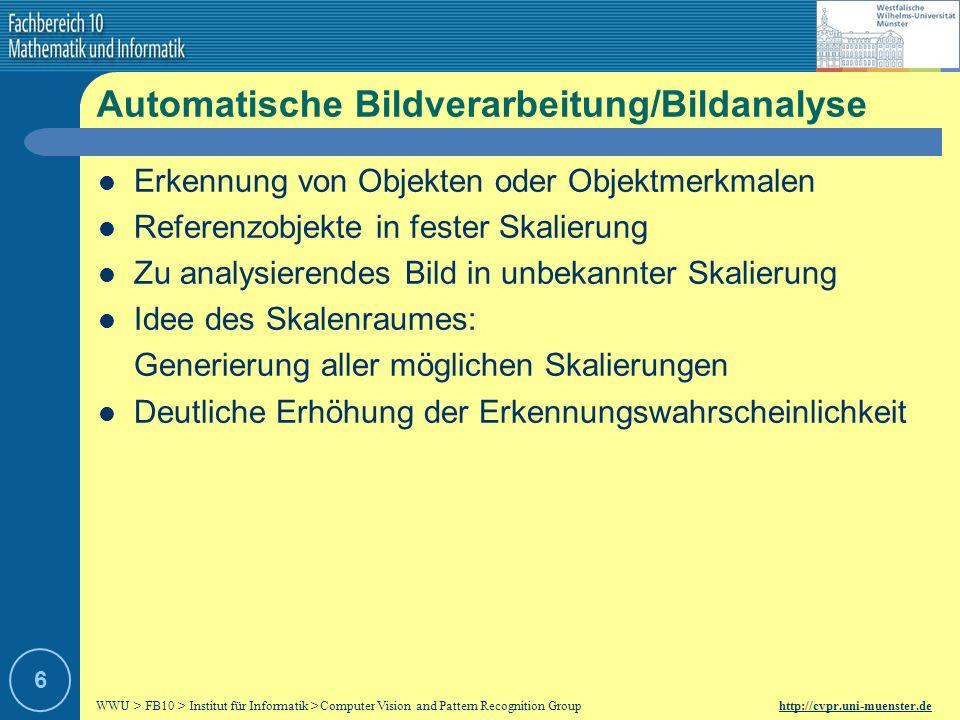 Automatische Bildverarbeitung/Bildanalyse