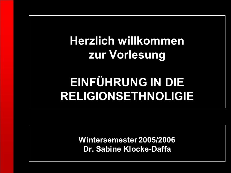 Wintersemester 2005/2006 Dr. Sabine Klocke-Daffa