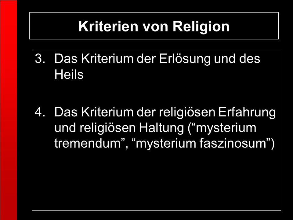 Kriterien von Religion