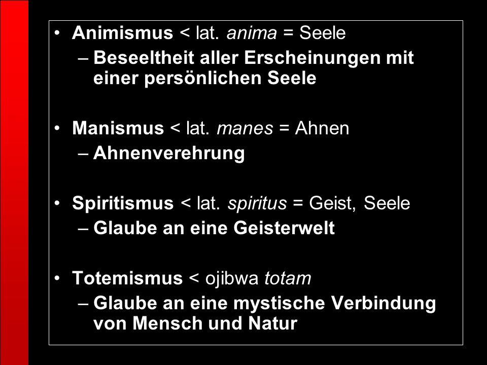 Animismus < lat. anima = Seele