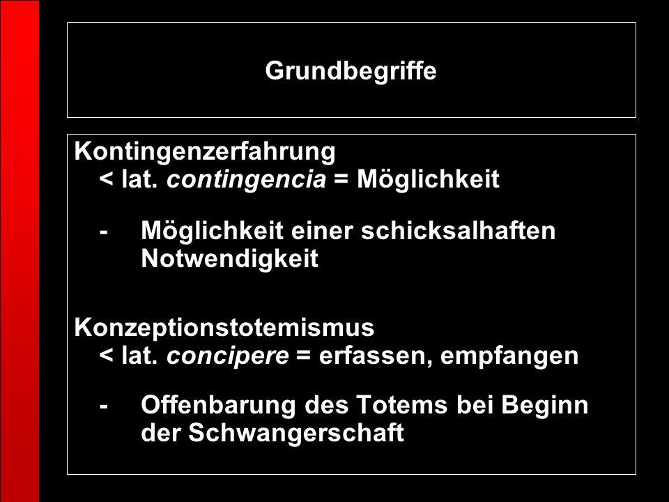 Grundbegriffe Kontingenzerfahrung < lat. contingencia = Möglichkeit. - Möglichkeit einer schicksalhaften Notwendigkeit.