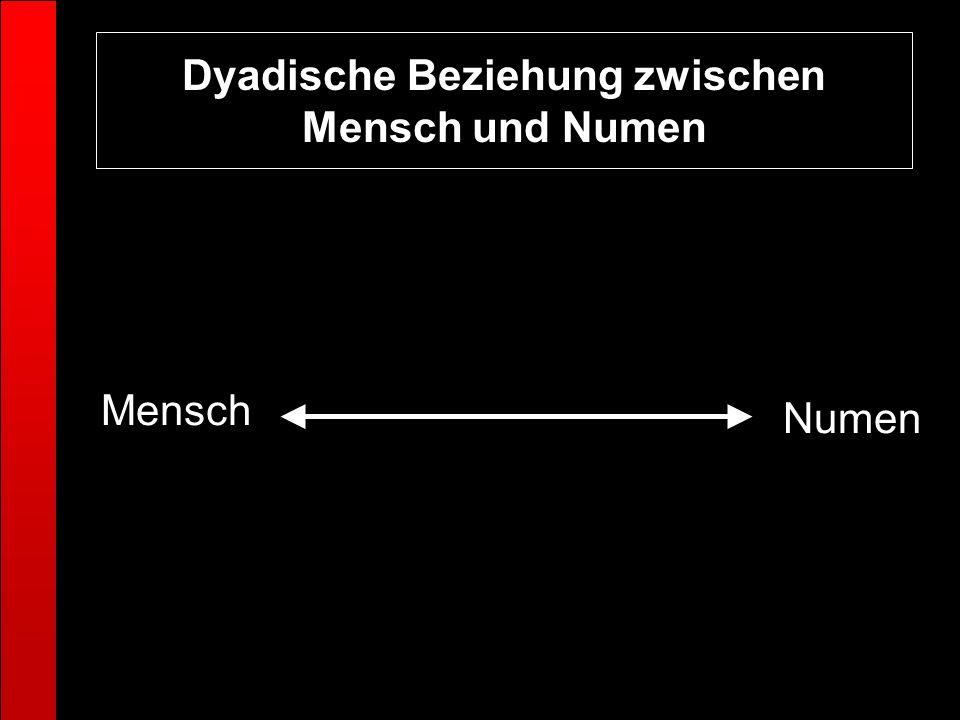 Dyadische Beziehung zwischen Mensch und Numen