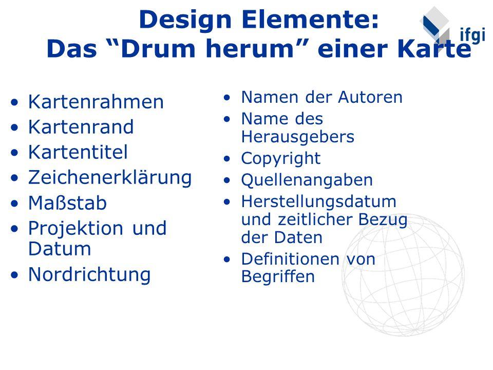 Design Elemente: Das Drum herum einer Karte