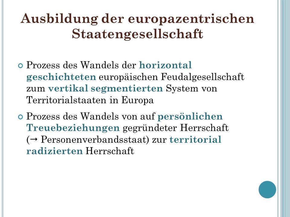 Ausbildung der europazentrischen Staatengesellschaft