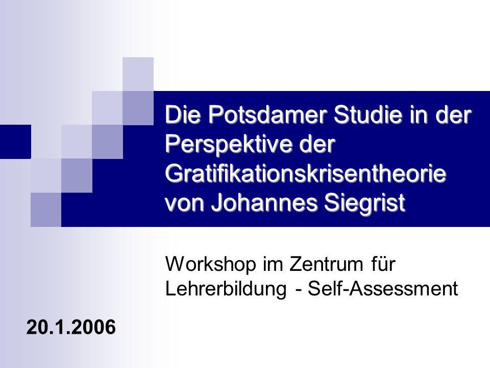 Workshop im Zentrum für Lehrerbildung - Self-Assessment