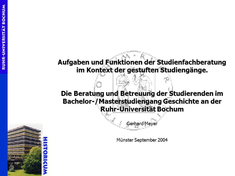 Aufgaben und Funktionen der Studienfachberatung im Kontext der gestuften Studiengänge.