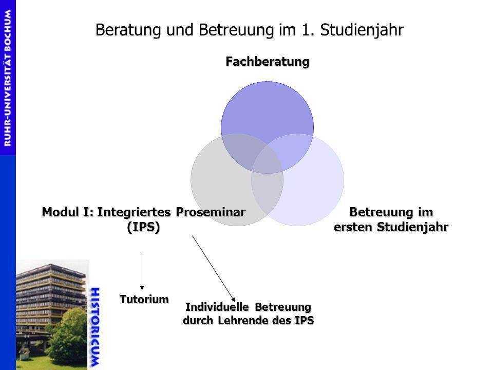 Individuelle Betreuung durch Lehrende des IPS
