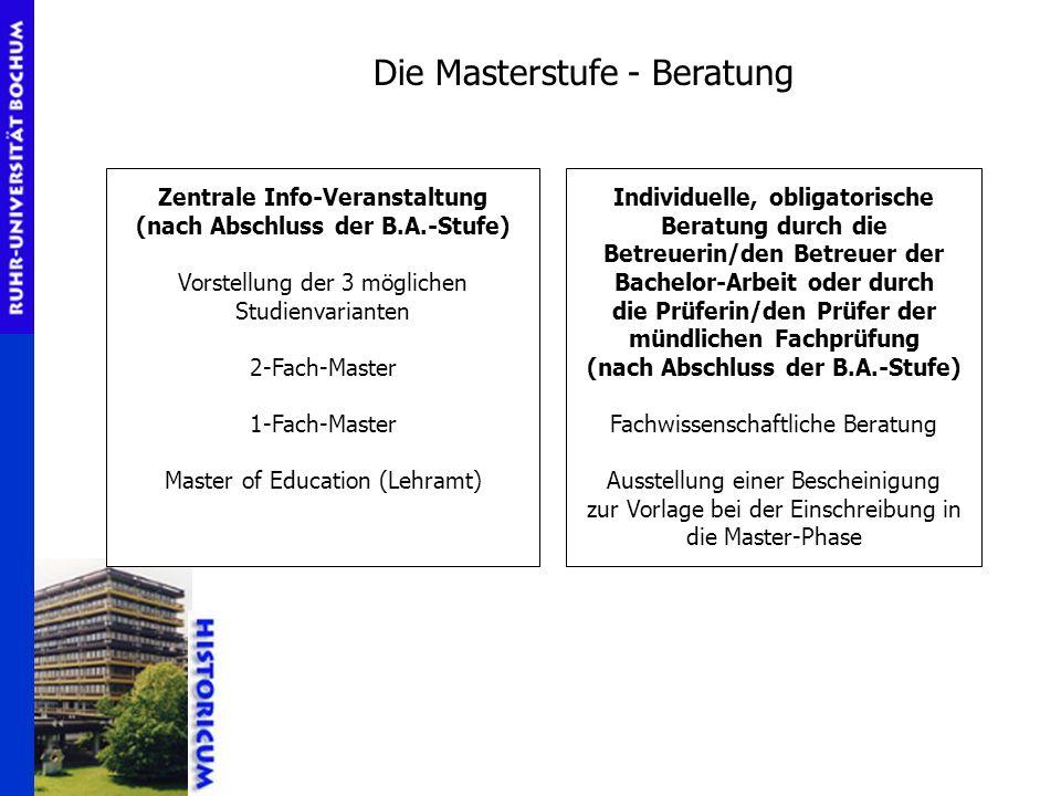 Die Masterstufe - Beratung