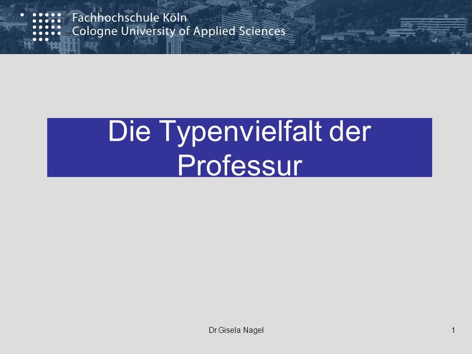 Die Typenvielfalt der Professur