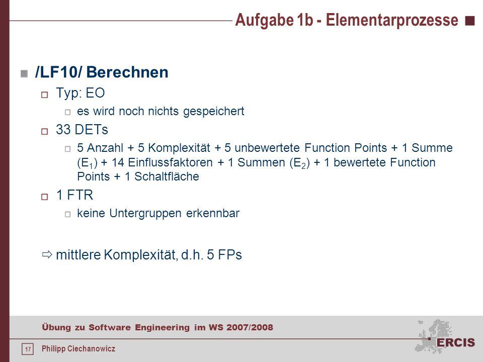 Aufgabe 1b - Elementarprozesse