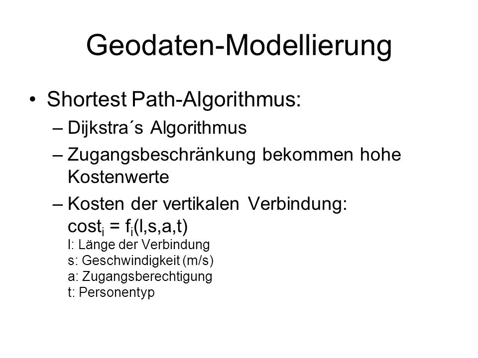 Geodaten-Modellierung