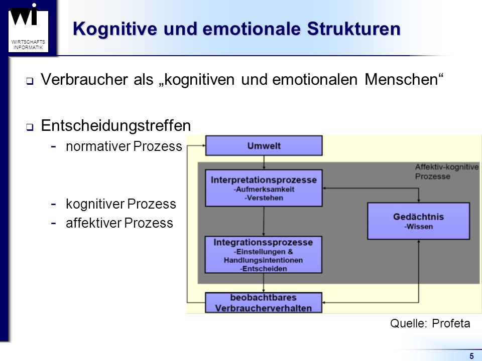 Kognitive und emotionale Strukturen