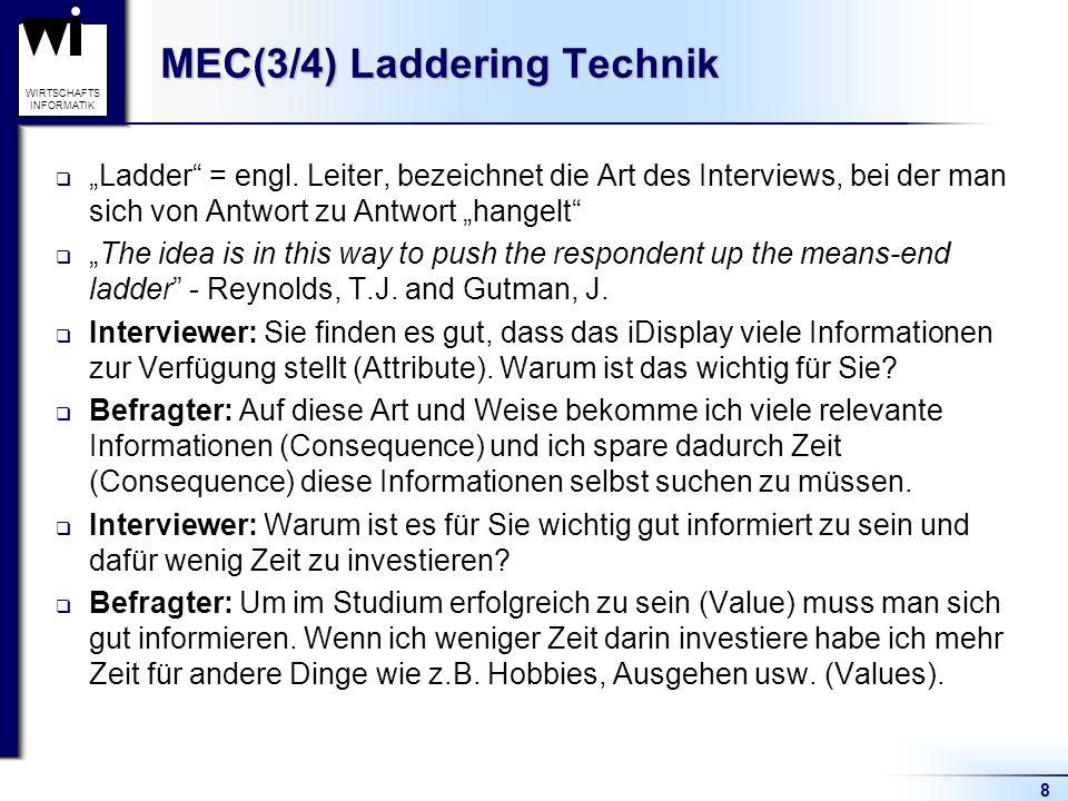 MEC(3/4) Laddering Technik