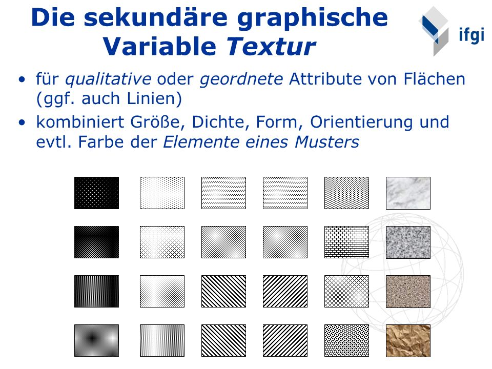 Die sekundäre graphische Variable Textur