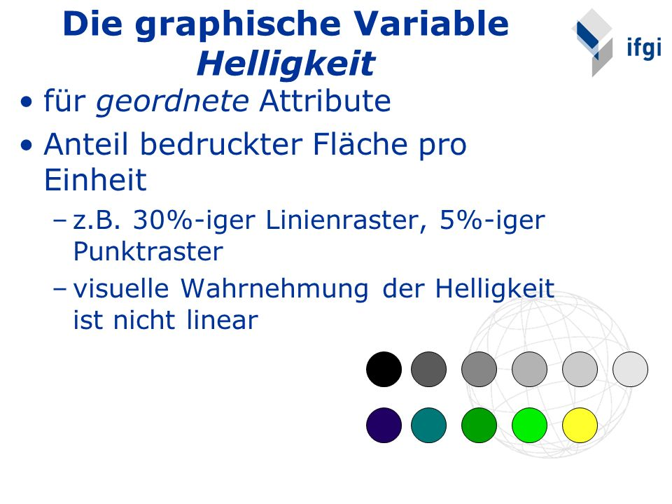 Die graphische Variable Helligkeit