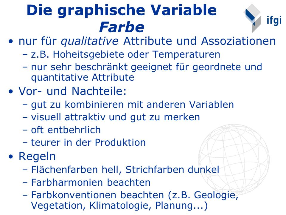 Die graphische Variable Farbe