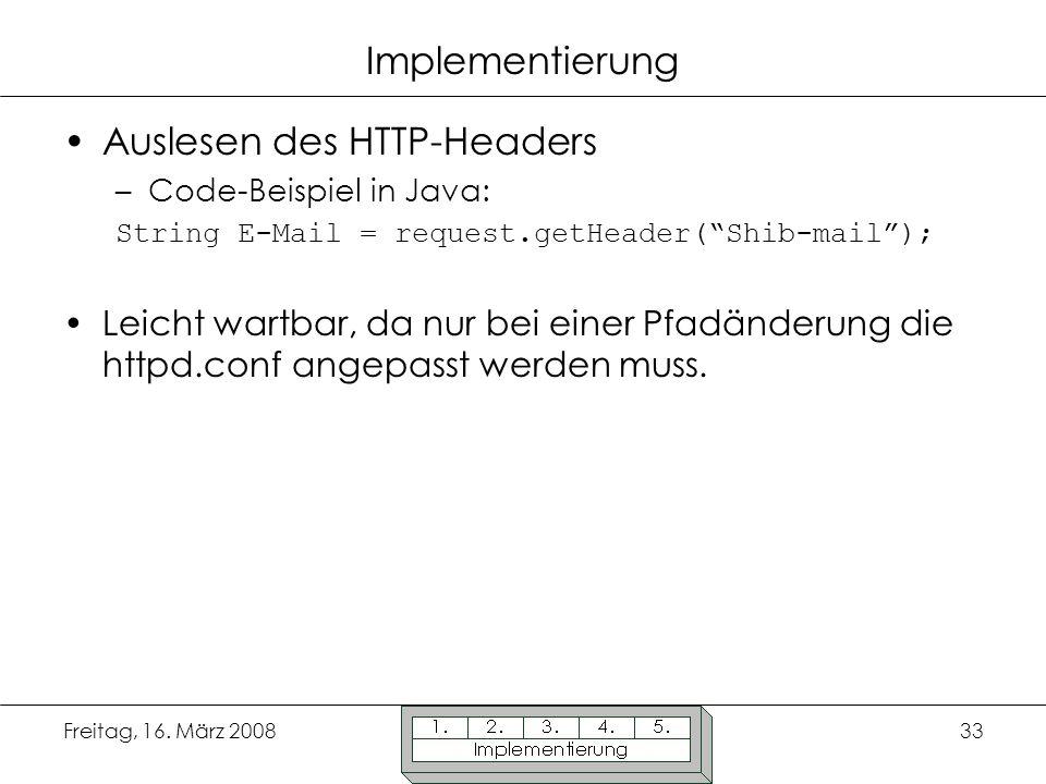 Auslesen des HTTP-Headers