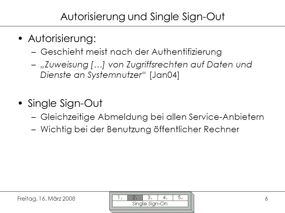 Autorisierung und Single Sign-Out