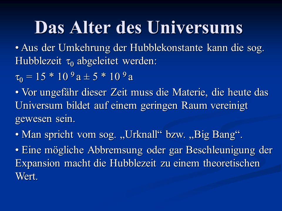 Das Alter des Universums