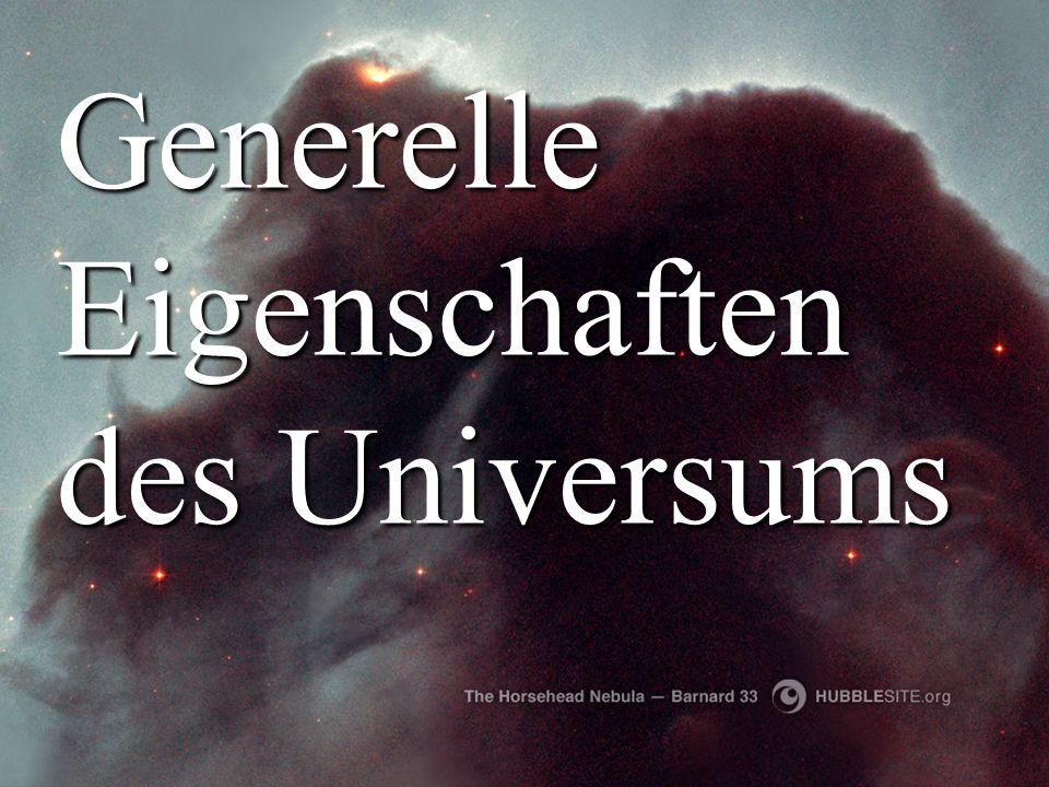Generelle Eigenschaften des Universums