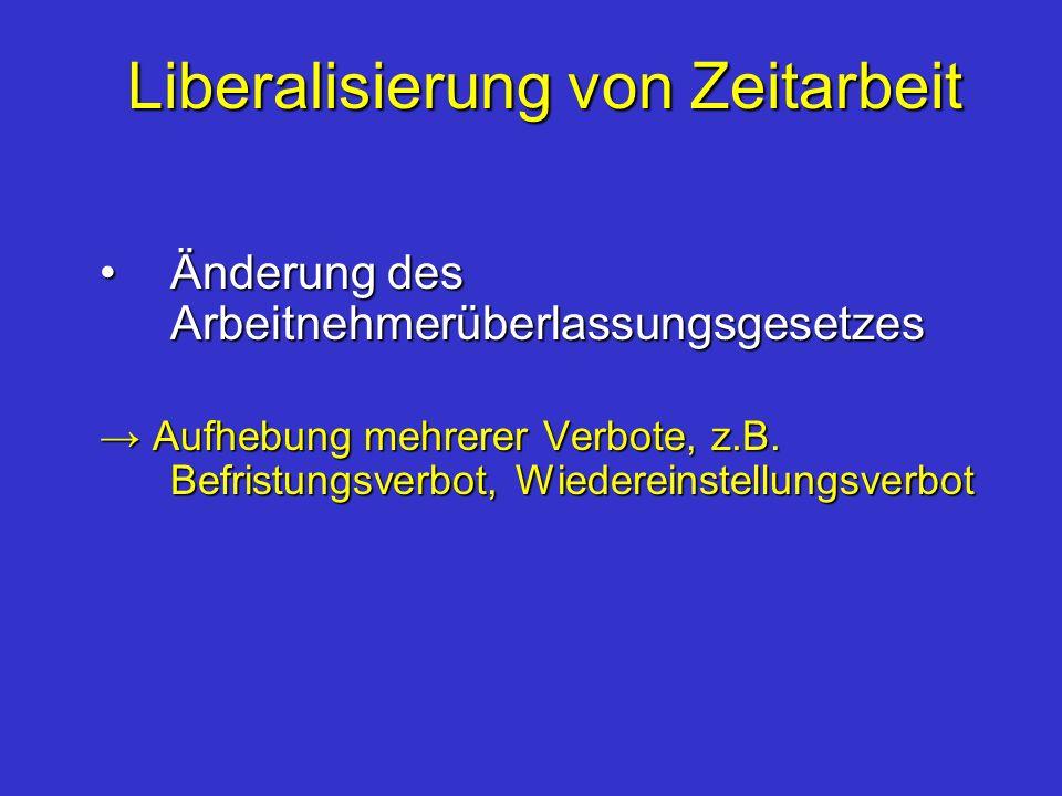 Liberalisierung von Zeitarbeit