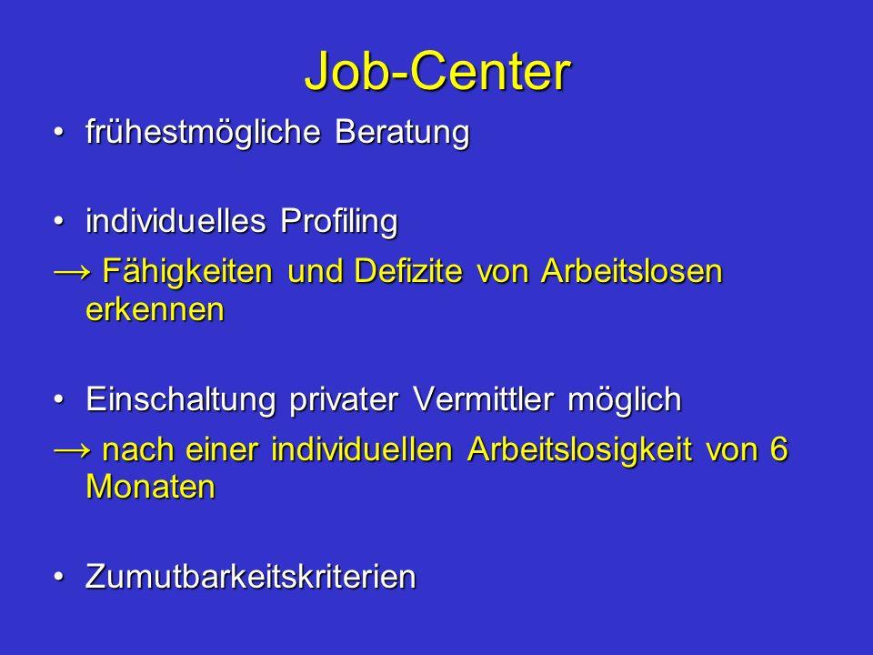 Job-Center → Fähigkeiten und Defizite von Arbeitslosen erkennen