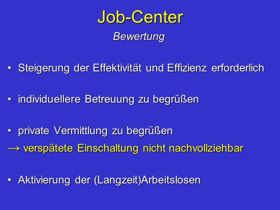 Job-Center → verspätete Einschaltung nicht nachvollziehbar Bewertung