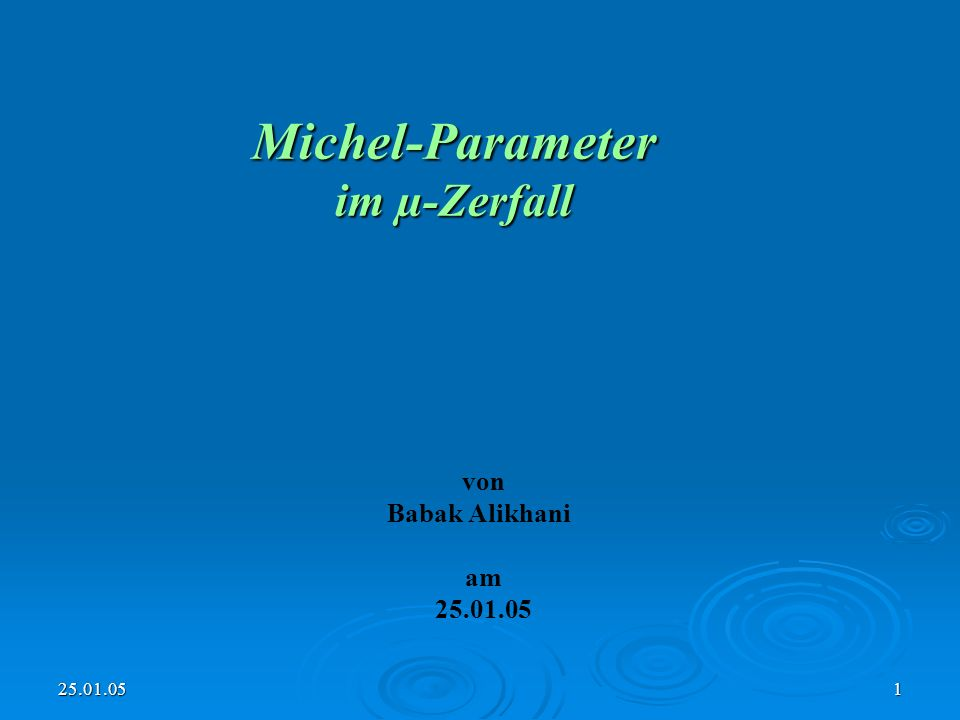 Michel-Parameter im µ-Zerfall