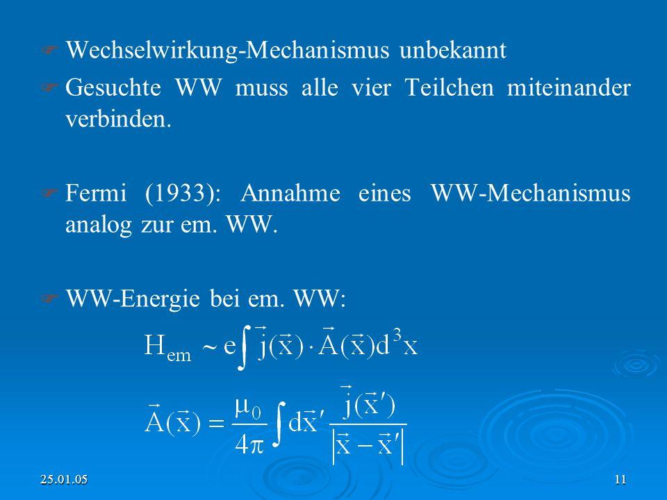 Wechselwirkung-Mechanismus unbekannt
