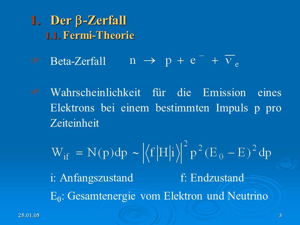 Der -Zerfall Beta-Zerfall