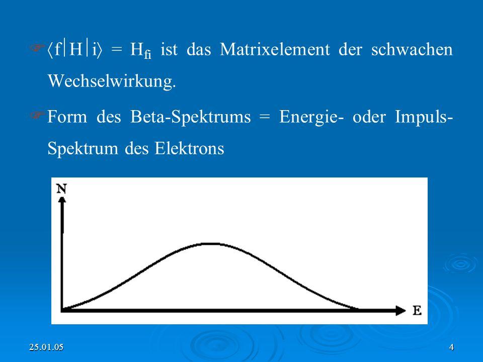 fHi = Hfi ist das Matrixelement der schwachen Wechselwirkung.